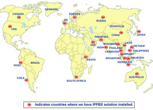 IPPBX Installation Map
